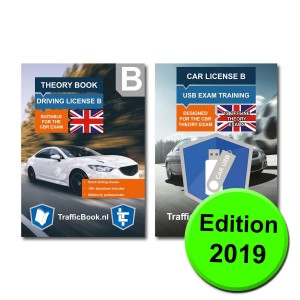 Driving Licence Car Theory Book (English) - Dutch Traffic with Practise USB - 13 theory exams